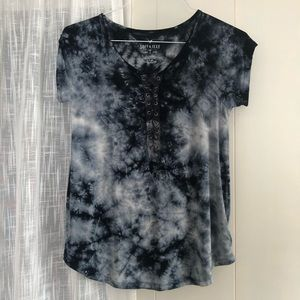 American Eagle lace-up corset tee